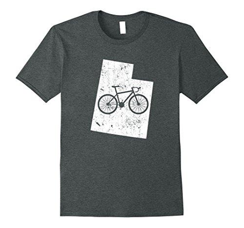 Mens Utah Home State Bike | Cycling & Triathlon Gift & T-Shirt Large Dark Heather