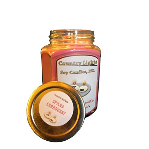 Spiced Cranberry Scented Soy Jar Candle ()