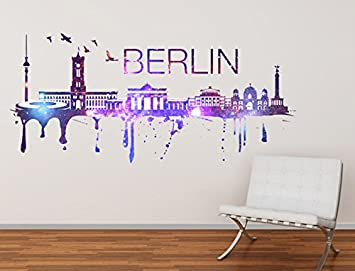 Amazing Wandtattoo Skyline Berlin Stadt Wandaufkleber , 150 X 67 Cm