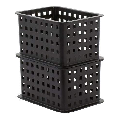 K&A Company Stackable Plastic Storage Bin, 5.25'' x 5.75'' x 3 lbs