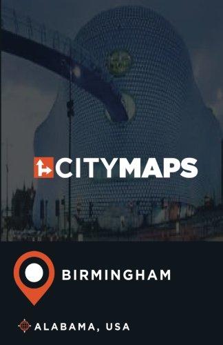 City Maps Birmingham Alabama, USA