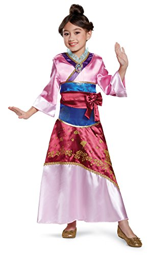 Mulan Deluxe Costume, Pink, Medium (Disney Mulan Halloween Costume)