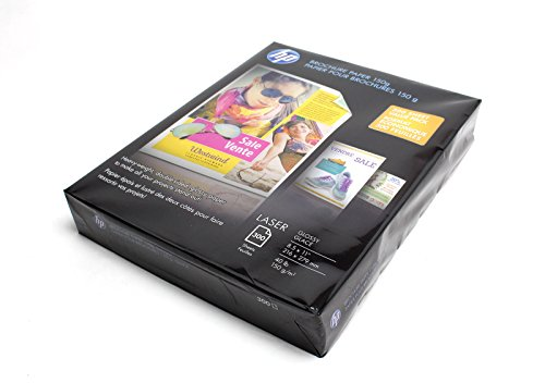 Hp Brochure 150G Laser Paper, Glossy 8.5. X 11, 300 Sheets - Glossy Presentation Paper