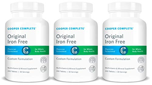 Cooper Complete – Original Multivitamin Iron Free – Daily Multivitamin and Mineral Supplement – 90 Day Supply