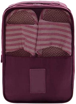 ASOSMOS シューズポーチ シューズバッグ 履き替え収納 靴入れ シューズ袋 旅行 出張 整理用 トラベルポーチ ポータブル