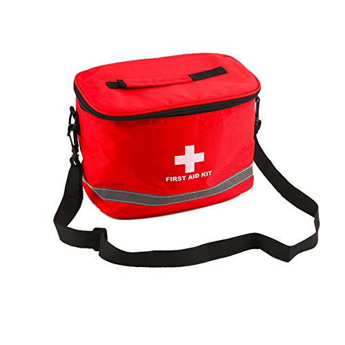 E-FAK Red bag for First Aid Kits Pack Emergency Treatment or Hiking, Backpacking, Camping, Travel, Car & Cycling. Perfect for all Outdoor Adventures or be Prepared at Home & (Security First Aid)