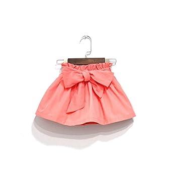 little junie - Falda - trapecio - para niña naranja 6 años: Amazon ...