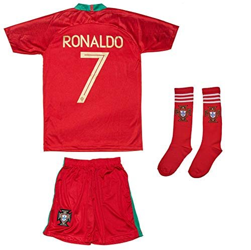 9263c84cc Soccer Youth Jersey Set ○ Portugal ○ 2018 Jersey with Socks ○   7 Ronaldo  (2-3 Ages ○ X-Small