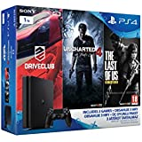 PlayStation 4 1TB D Chassis Slim Jet Black + Driveclub + Uncharted 4 + The last of us [Bundle]