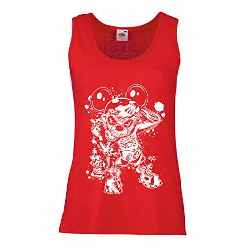 lepni.me Women's Tank Top A Mouse with an Amazing Halloween Party Costume (XX-Large Red Multi Color)