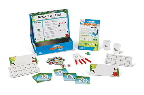 Math Activities With Ten-frame (Ages 5+) - 10 Critical Thinking Math Games | For Home or Classroom Center | Educational Product for Teaching Counting, Addition, & Subtraction ()