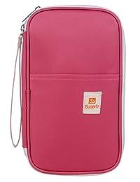 "iSuperb Passport Wallet Organizer Waterproof Travel Bag 5.3"" x 8.7"" x 1.4"""