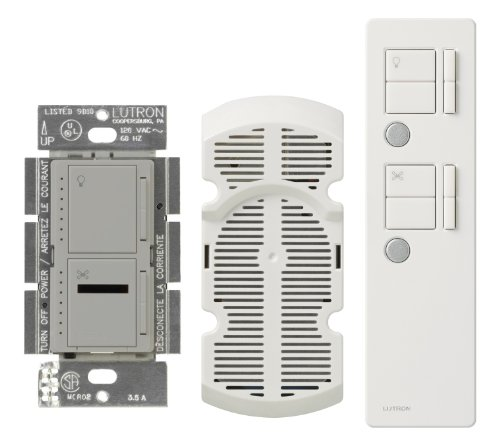 Multi Location Fan Control (Lutron MIR-LFQMT-GR Maestro IR 300-watt Multi Location Digital Fan and Light Control Kit, Gray)