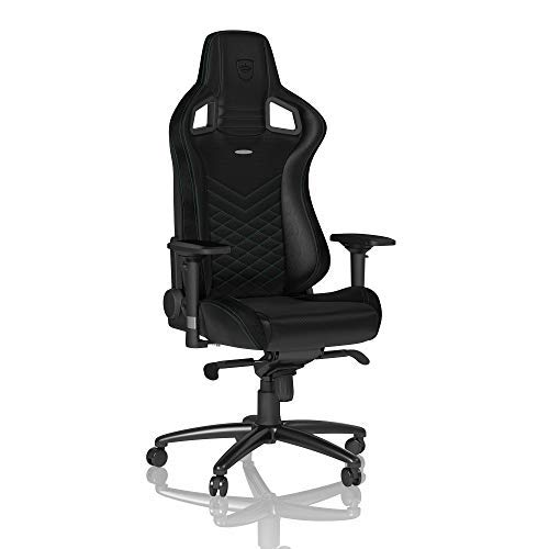noblechairs Epic Gaming Chair - Office Chair - Desk Chair - PU Leather - Black/Green noblechairs