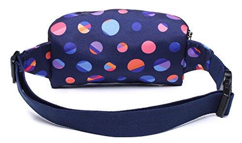 E Fashion 521s Una Dots Polka Borsa Divertente20x6x11 S021a Marsupio Carina Cm gbvI76Yfy