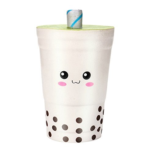 Brave669 Lovely Cartoon Milk Tea Cup Slow Rising Scented Squeeze Decompression Toy Gift ()