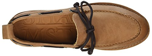 Shabbies Amsterdam Damen Bootschuhe Vegitabil Leder Bootsschuhe Beige (light Brown)