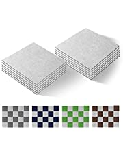 "New Version Self Adhesive Carpet Floor Peel Tile Square 10 Pcs 12"" x 12"" Anti-Slip No Fatigue Mat Home Furnishings and Floor Protect Pads Easty Install DIY (37)"