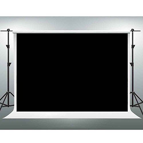 GESEN Backdrop 10X7ft Black Solid Color Non-woven Fabric Photography Background Video Studio Props WGE001 by GESEN