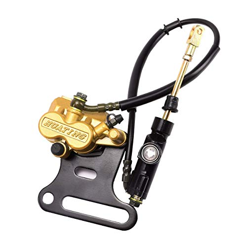 WPHMOTO Rear Hydraulic Disc Brake Caliper Master Cylinder Assembly for Moped Scooter Motorcycle