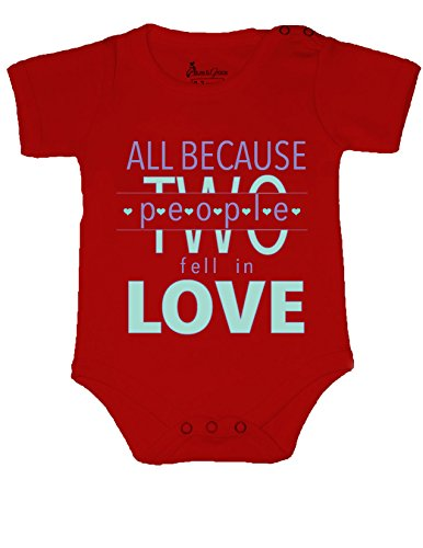 Allure & Grace Funny Baby Onesie Romper Bodysuit All Because Two People Baby Shower - Onesie 2 Person