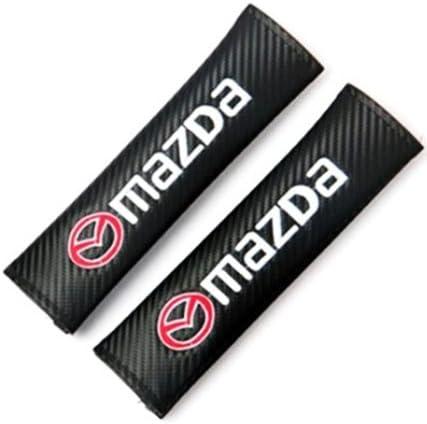 Protrex UK Carbon Fibre Effect Racing Style Seat Belt Shoulder Pads Flair Flair Wagon Flair Crossover Mazda2 Demio Mazda3 Mazda6 Atenza Mx-5 Roadster Cx-3 Cx-4 Cx-5 Cx-8 Cx-9 Bongo
