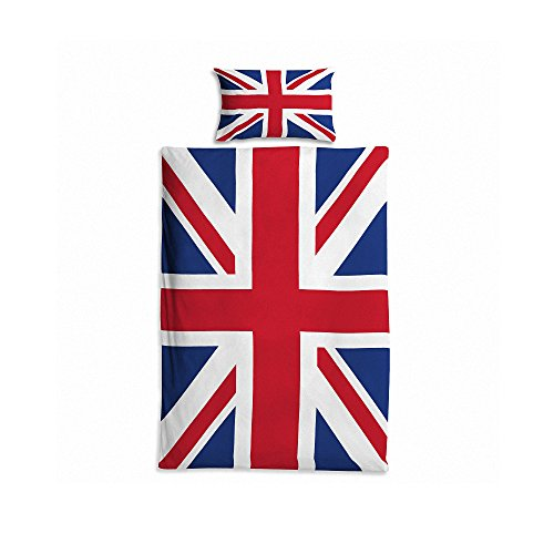 MokaMoka 100% Polyester 3D Printing British Flag Patten Bedding Sets,1 Duvet Cover + 1 Pillow cover,for Single bed/Children's bed/Students' bed