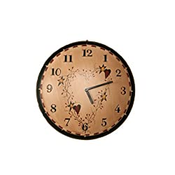 Your Heart's Delight Star/Heart Wall Hanging Clock, 11-1/4-Inch