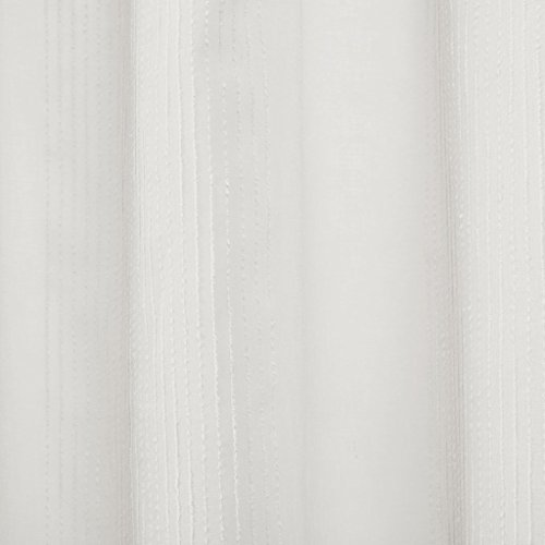Madison Park Anna Sheer Stripe Textured Bathroom Shower Curtain, 72X72