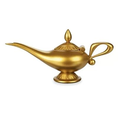 Replica Disney Parks Aladdin Resin Genie Lamp Golden Paint Finish: Toys & Games
