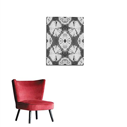 - longbuyer Wallpaper Seamless Pattern Abstract tie Dyed Fabric of Black Color on White Cotton Mural 16
