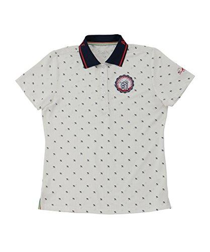 アーノルドパーマー レディース ゴルフ ポロシャツ 半袖 飛び柄半袖シャツ AP220301H05 WH O