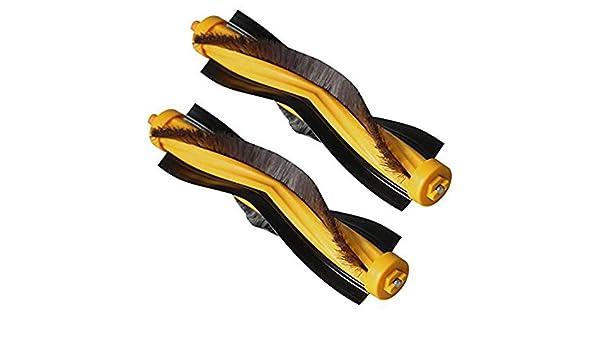 TOOGOO Adecuado para Cepillo Principal de Repuesto para Ecovacs Deebot 900 901 M80 Pro M81 M85 M88 R95 R96 R98 Aspiradora Robótica (Paquete de 2): ...