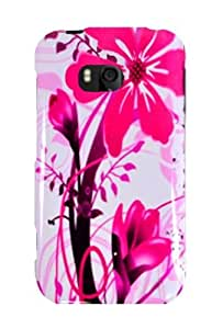 Graphic Case for Nokia Lumia 822 - Pink Splash (Package include a HandHelditems Sketch Stylus Pen)