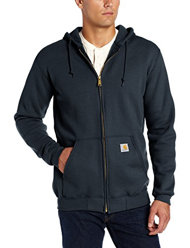 (Carhartt Men's Midweight Hooded Zip-front Sweatshirt,New Navy,2X-Large)