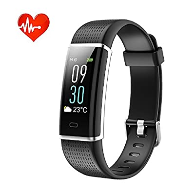Tigerhu Fitness Tracker HR, Activity Tracker Color Screen with Heart Rate Monitor, Smart Wristband Calorie Counter, Sleep Monitor, Pedometer Watch with IP68 Waterproof for Kids Women Men