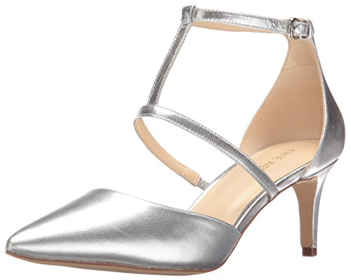 Nine West Women's Sasha Metallic Dress Pump - Silver - 6....