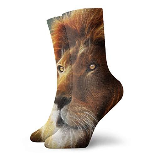 YUANSHAN Socks Head of Lion Women & Men Socks Soccer Sock Sport Tube Stockings Length (Female Football Player Halloween Costumes)