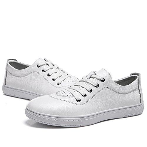 SK Studio Sport Leather Fashion Lace Up Sneaker White m1PWO9