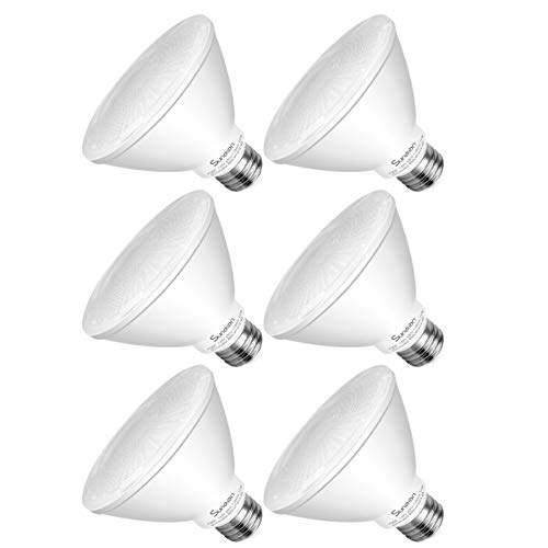 SUNEON Par30 Led Bulbs Short Neck(L=3.54'') 11w 75w Equivalent 5000k Dimmable Daylight Wet Location - 40degree Par30s - 120v Ul-listed and Energy Star(Pack of ()