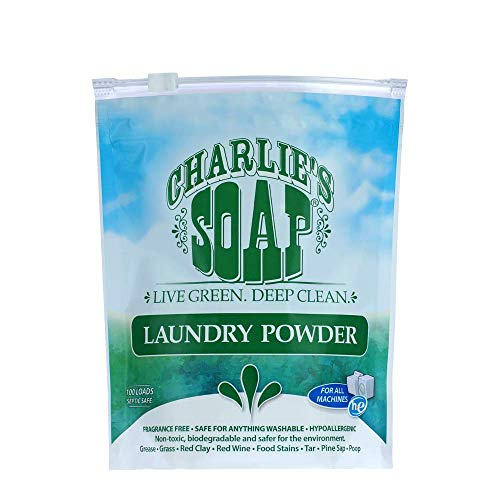 Charlie S Soap   Fragrance Free Powdered Laundry Detergent   100 Loads  2 64 Lbs  1 Pack