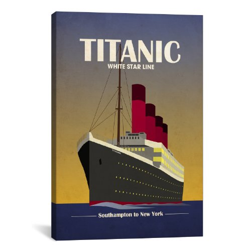 iCanvasART Titanic Ocean Liner Art Deco by Michael Tompsett Canvas Art Print, 26 by 18-Inch