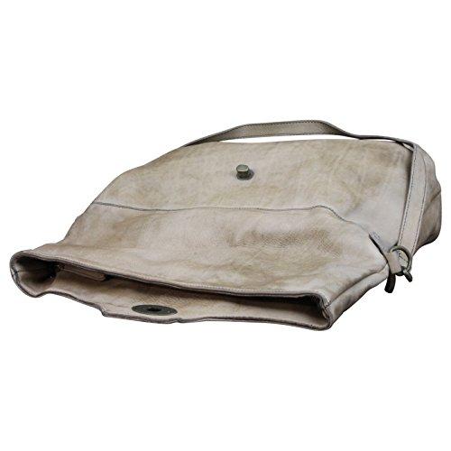 Made Leder Schultasche Crossbody Italy Vintage Schultertasche Look Messenger Braun in Bag Used UqUFvr