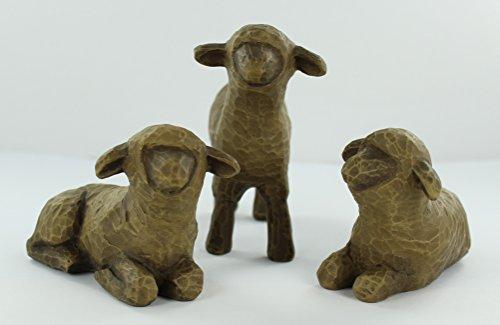 Willow Tree Three Black Sheep Nativity Figurines