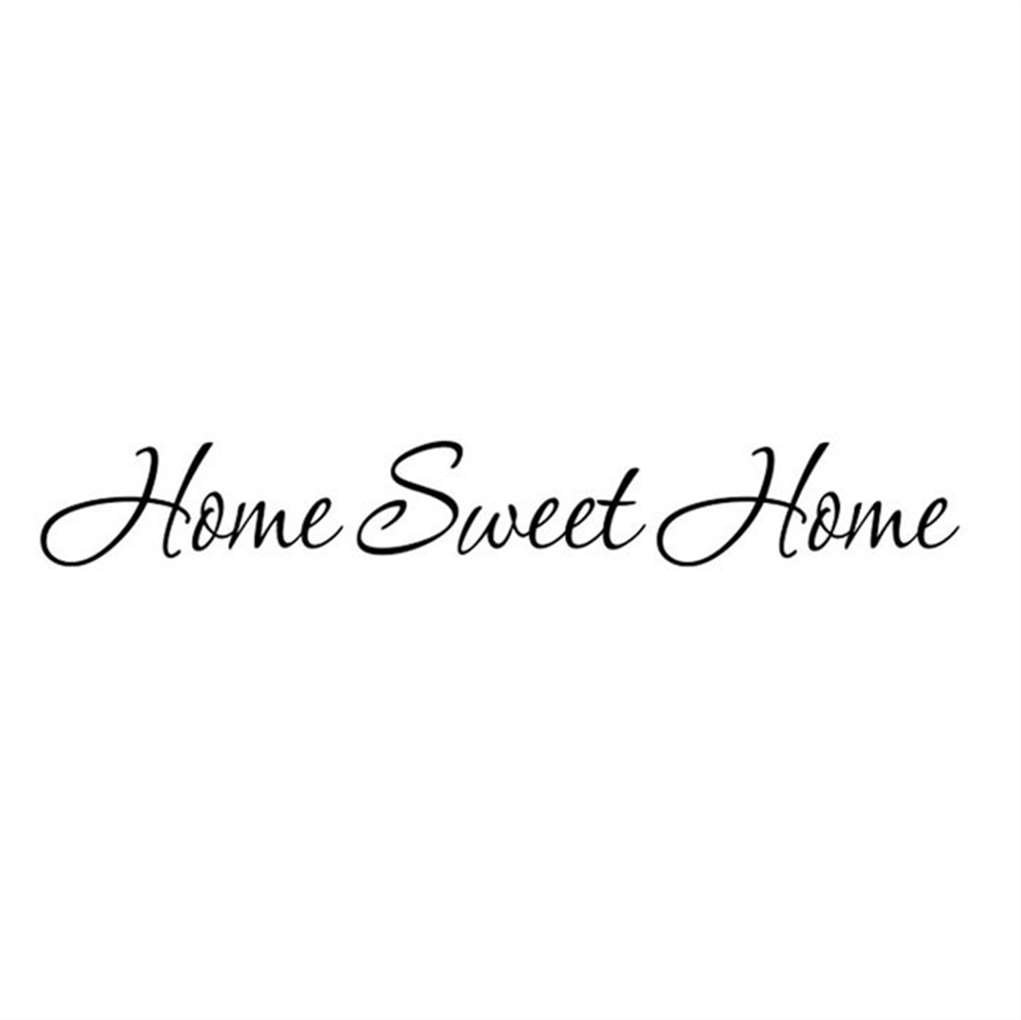 Sticker Words, ZTY66 'Home Sweet Home' Decal PVC Mural Sticker for DIY Home Decor