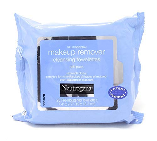 Neutrogena Makeup Remover Cleansing Towelettes, Daily Face Wipes to Remove Dirt, Oil, Makeup & Waterproof Mascara, 25 ct. (Pack of 2)
