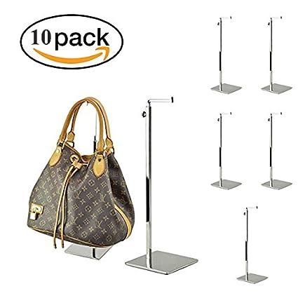 Amazon Com Nipole Adjustable Metal Handbag Display Rack Women