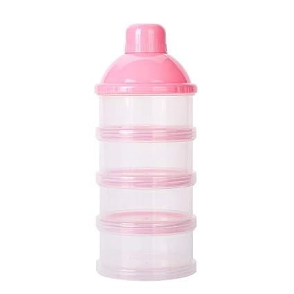 NaiCasy Bebé dispensador envase del almacenaje del Recorrido de alimentación de Leche en Polvo 6 Capas