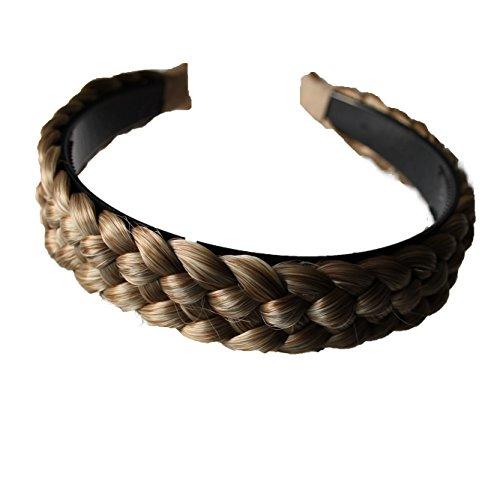 PRETTYSHOP Haarreifen mit geflochtenem Zopf Haarteil Haarband Kopfschmuck Haarschmuck HR3
