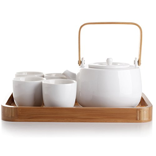 casaWare Serenity 7-Piece Tea Pot Set (White)